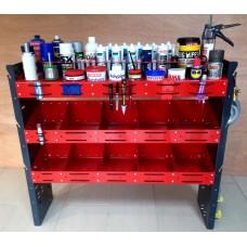 heavy duty plumbers van / workshop rack